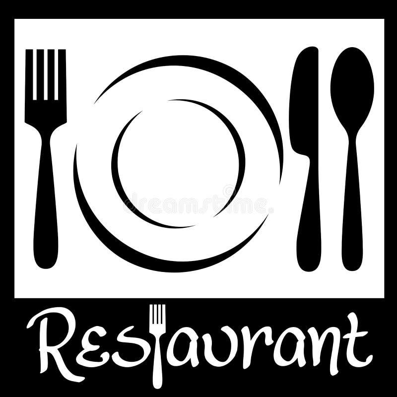 εστιατόριο λογότυπων διανυσματική απεικόνιση