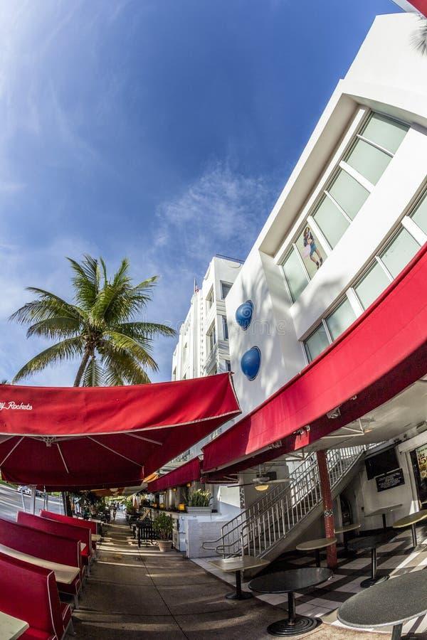 Εστιατόριο πυραύλων του Johnny στο ωκεάνιο Drive στο Μαϊάμι στοκ φωτογραφίες με δικαίωμα ελεύθερης χρήσης