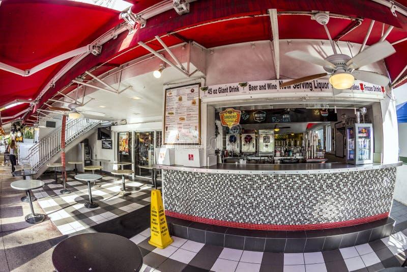 Εστιατόριο πυραύλων του Johnny στο ωκεάνιο Drive στο Μαϊάμι στοκ εικόνα με δικαίωμα ελεύθερης χρήσης