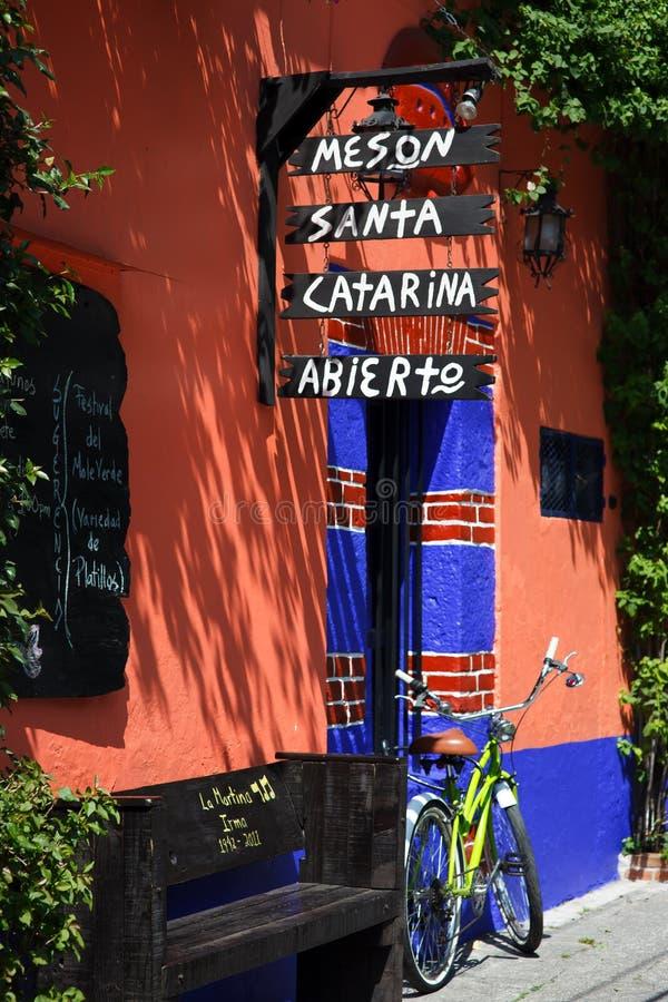Εστιατόριο σε Coyoacan στοκ φωτογραφία με δικαίωμα ελεύθερης χρήσης
