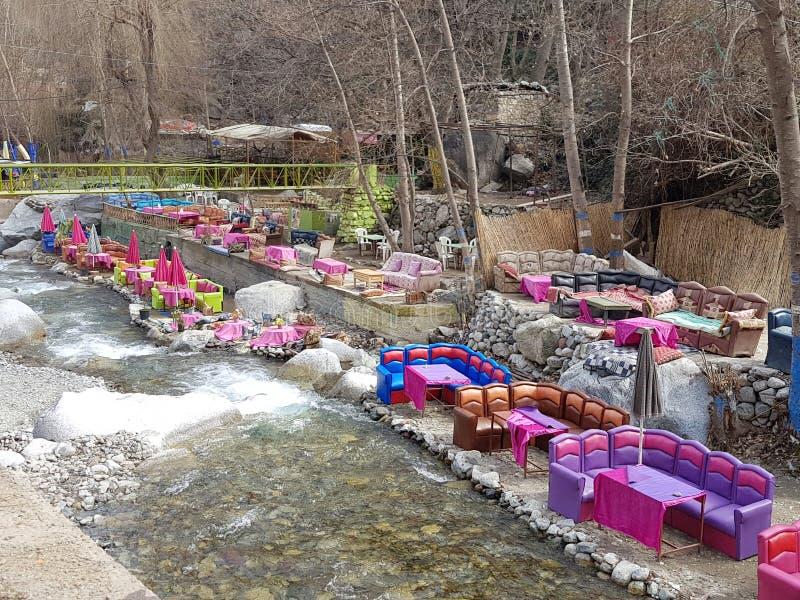 Εστιατόριο σε Setti Fatma στοκ εικόνες