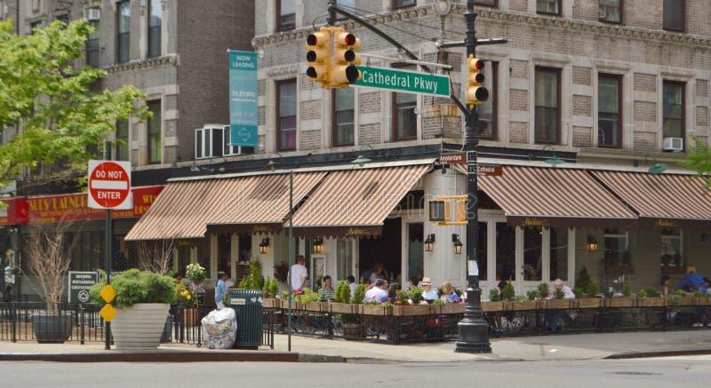 Εστιατόριο στην πόλη της Νέας Υόρκης υψών Morningside στοκ φωτογραφία