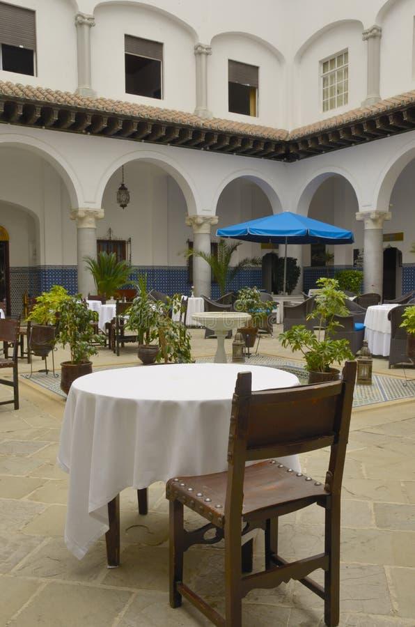 Εστιατόριο στο patio στοκ εικόνες