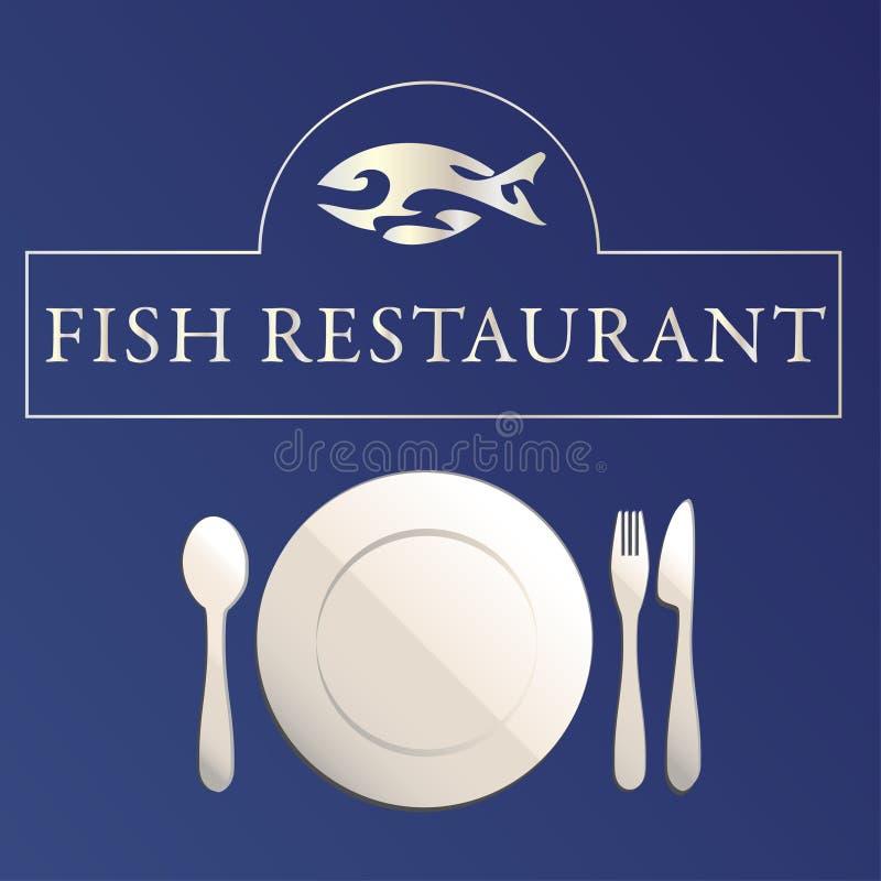 εστιατόριο ψαριών διανυσματική απεικόνιση