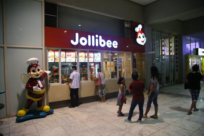 Εστιατόριο Jollibee εξωτερικό στη Μανίλα στοκ φωτογραφία με δικαίωμα ελεύθερης χρήσης