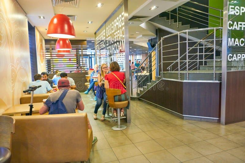 Εστιατόριο Mcdonald στοκ φωτογραφία με δικαίωμα ελεύθερης χρήσης