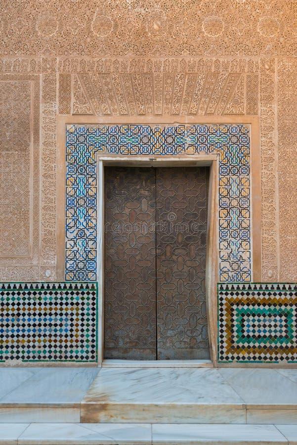 Εσωτερικά παλάτια Nasrid διακοσμήσεων, Alhambra, Γρανάδα στοκ φωτογραφίες με δικαίωμα ελεύθερης χρήσης