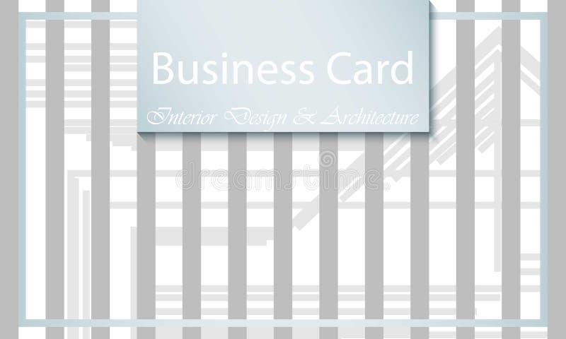 Εσωτερικές σχέδιο και αρχιτεκτονική επαγγελματικών καρτών αφηρημένες ανασκοπήσεις διανυσματική απεικόνιση