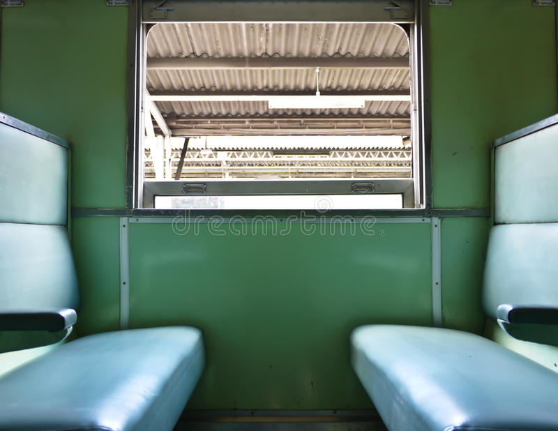 Εσωτερικές τραίνο και καρέκλα στοκ φωτογραφίες με δικαίωμα ελεύθερης χρήσης