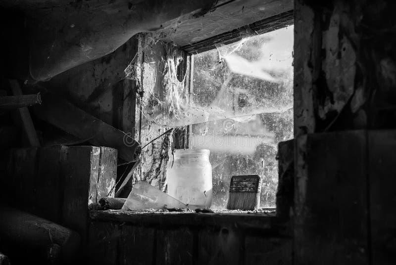 Εσωτερική άποψη ενός παραθύρου σιταποθηκών στοκ φωτογραφίες με δικαίωμα ελεύθερης χρήσης