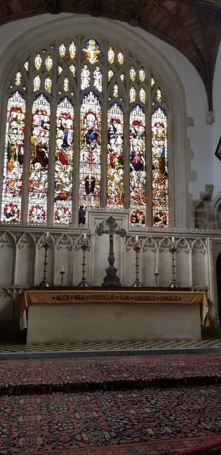Εσωτερική άποψη της καθολικής εκκλησίας στο UK στοκ εικόνες