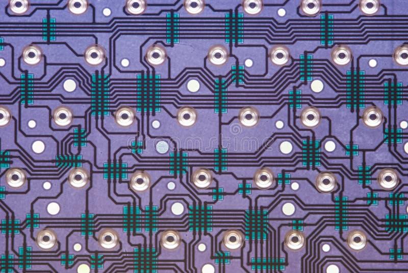 Εσωτερική άποψη του ηλεκτρονικού κυκλώματος πληκτρολογίων υπολογιστών στοκ φωτογραφίες με δικαίωμα ελεύθερης χρήσης
