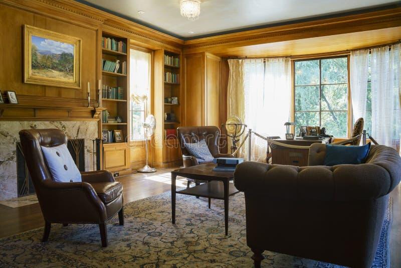 Εσωτερική άποψη του διάσημου σπιτιού Boddy στον κήπο Descanso στοκ εικόνες