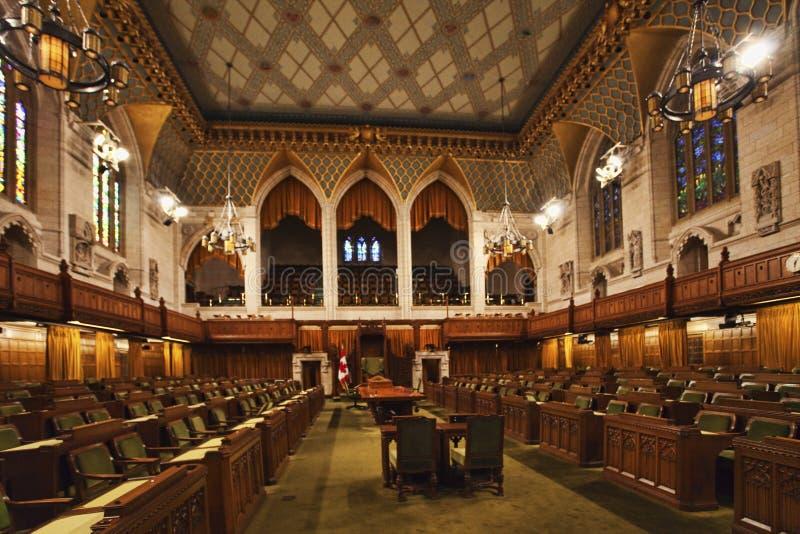 Εσωτερική άποψη των αστικών τάξεων του Καναδά του Κοινοβουλίου, Οττάβα στοκ εικόνα