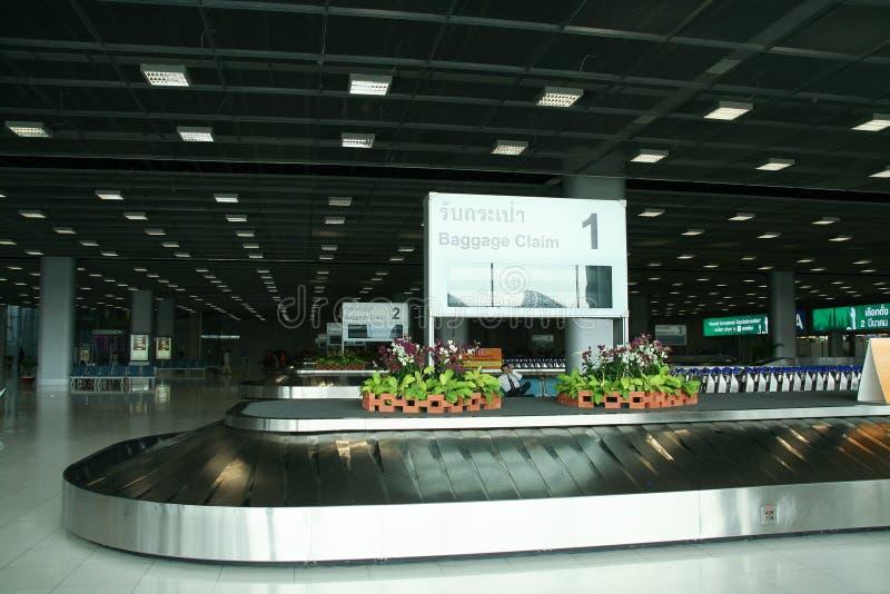 Εσωτερική αίθουσα αξίωσης αποσκευών του αερολιμένα της Μπανγκόκ Suvarnabhumi στοκ φωτογραφίες με δικαίωμα ελεύθερης χρήσης