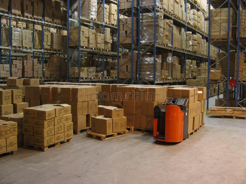 εσωτερική αποθήκη εμπορευμάτων στοκ φωτογραφία