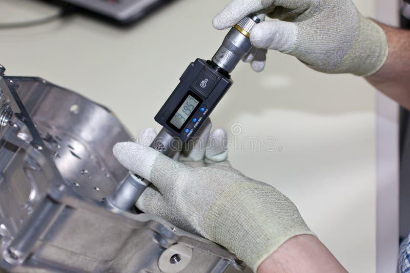 εσωτερική βίδα μικρόμετρου στοκ εικόνα