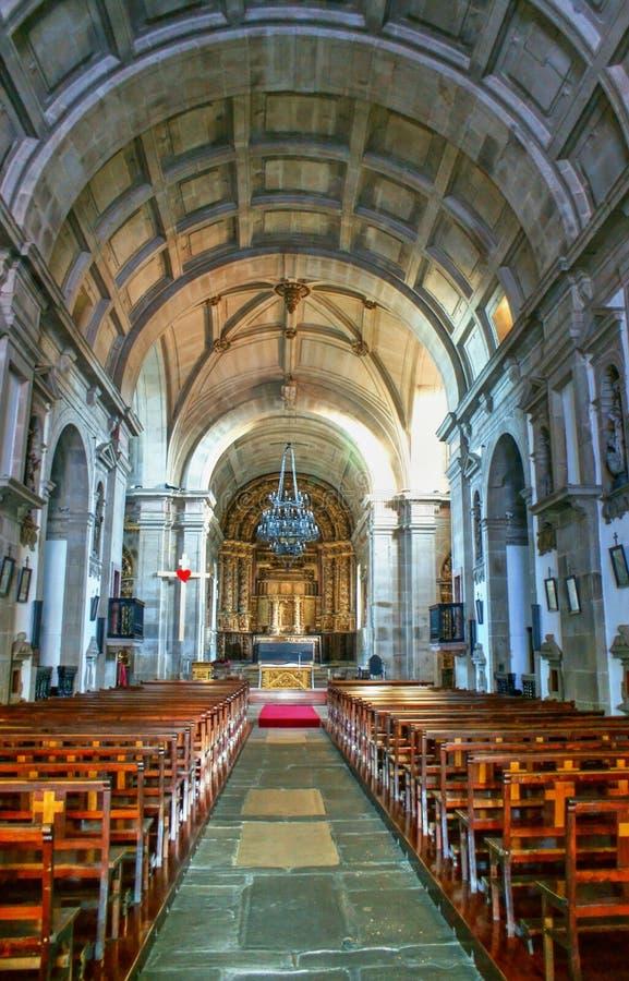 Εσωτερική εκκλησία Loios στο Σάντα Μαρία ντα Φέιρα στοκ φωτογραφία