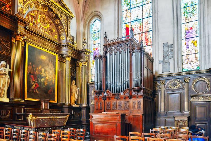 Εσωτερική εκκλησία ST-Gervais-et-ST-Protais του Παρισιού στοκ εικόνα