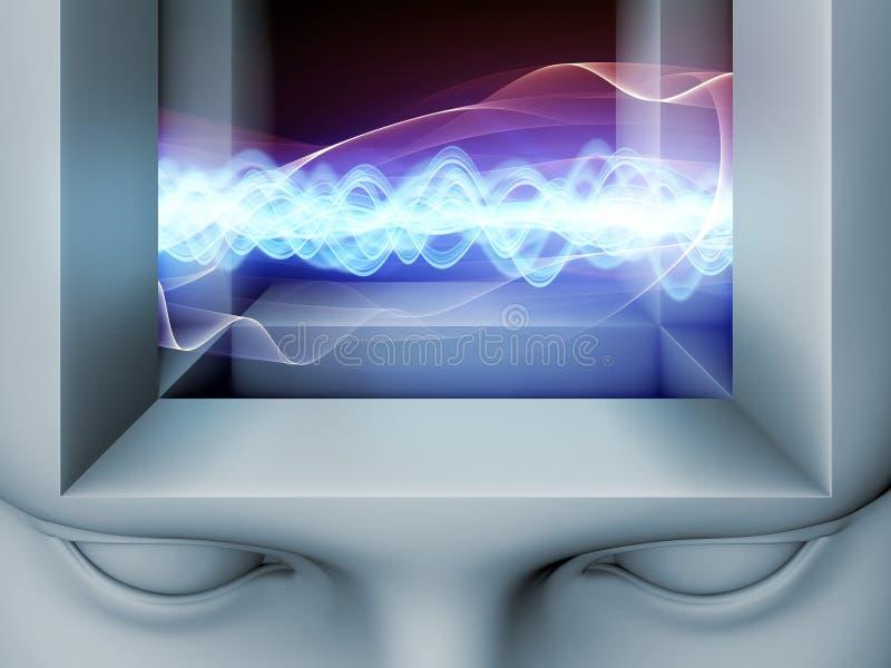 Εσωτερική ζωή του μυαλού διανυσματική απεικόνιση