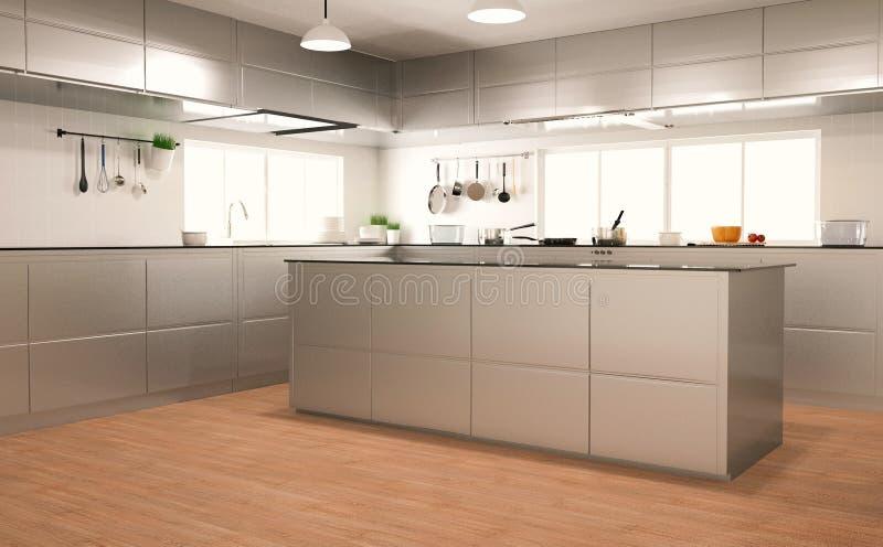 εσωτερική κουζίνα απεικόνιση αποθεμάτων