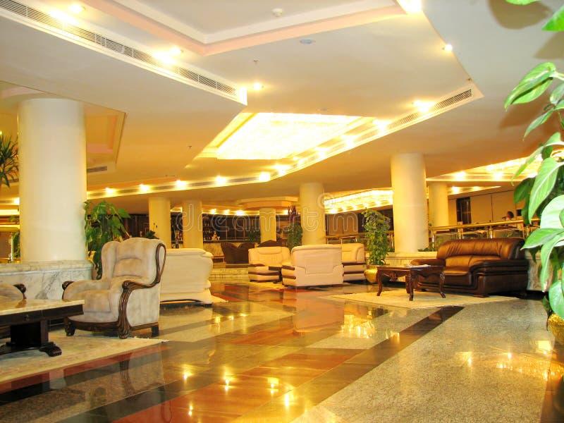 εσωτερική πολυτέλεια ξενοδοχείων στοκ εικόνες