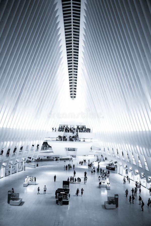 Εσωτερική πόλη της Νέας Υόρκης Oculus στοκ φωτογραφίες με δικαίωμα ελεύθερης χρήσης