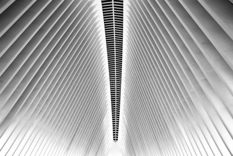 Εσωτερική πόλη της Νέας Υόρκης Oculus στοκ εικόνες
