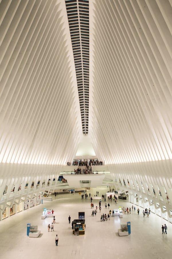 Εσωτερική πόλη της Νέας Υόρκης Oculus στοκ φωτογραφία