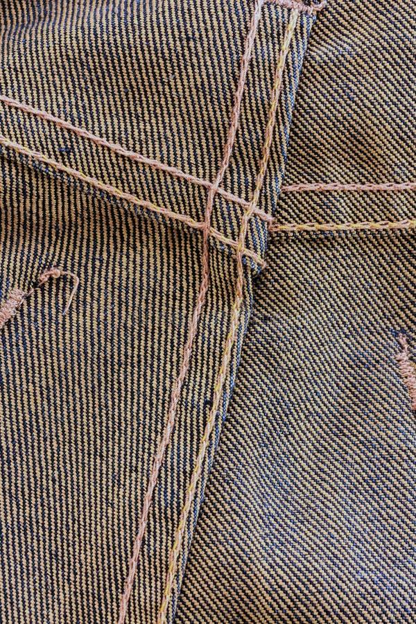 Εσωτερική πλευρά σύστασης τζιν στοκ φωτογραφίες
