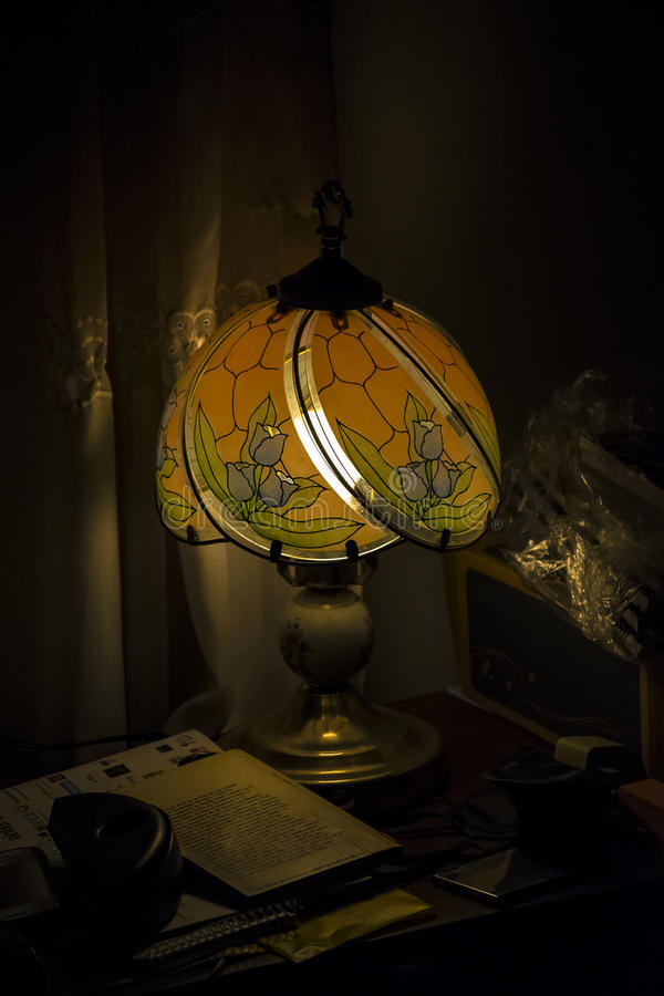 Εσωτερική σκηνή νύχτας δωματίων στοκ φωτογραφίες με δικαίωμα ελεύθερης χρήσης