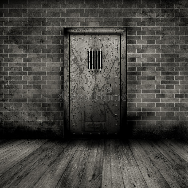εσωτερική φυλακή πορτών grunge απεικόνιση αποθεμάτων