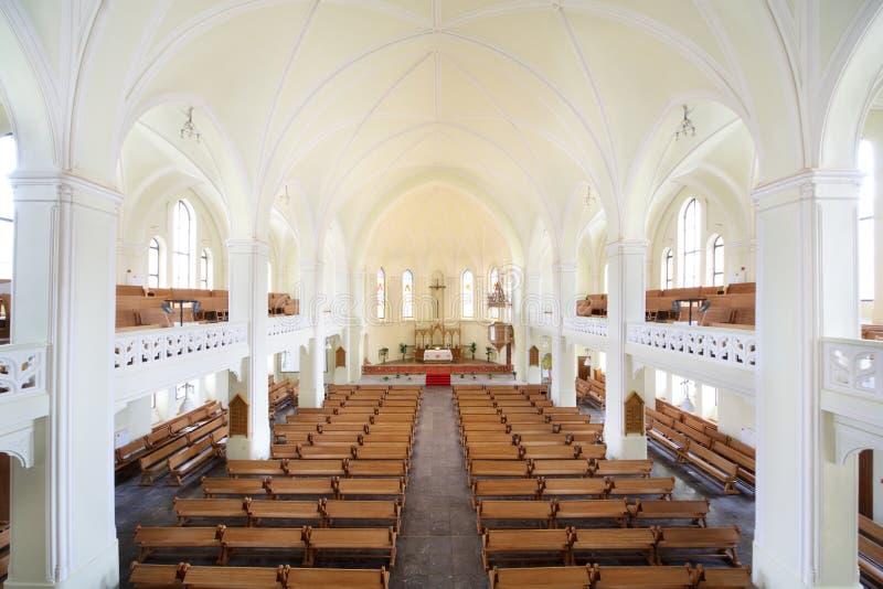 Εσωτερικός εβαγγελικός λουθηρανικός καθεδρικός ναός στοκ εικόνες με δικαίωμα ελεύθερης χρήσης