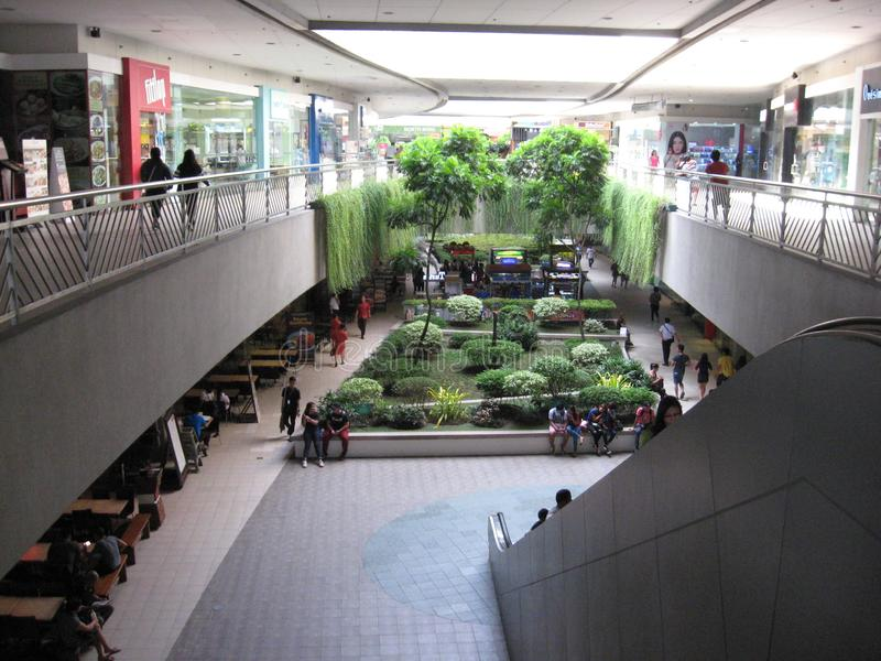 Εσωτερικός κήπος μέσα στη λεωφόρο της Ασίας, Μανίλα, Φιλιππίνες στοκ εικόνες