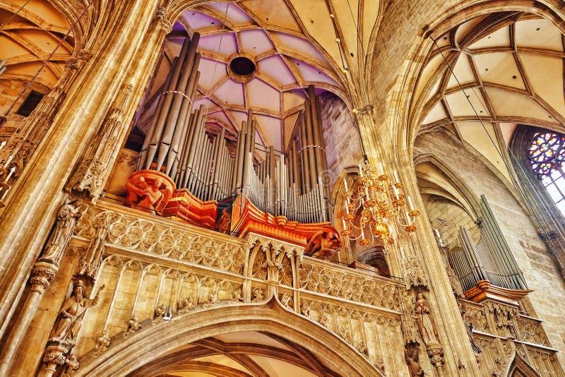 Εσωτερικός καθεδρικός ναός του ST Stephen (Stephansdom) στοκ φωτογραφία με δικαίωμα ελεύθερης χρήσης