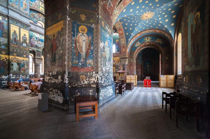 Εσωτερικός καθεδρικός ναός Panteleimon στοκ φωτογραφία με δικαίωμα ελεύθερης χρήσης