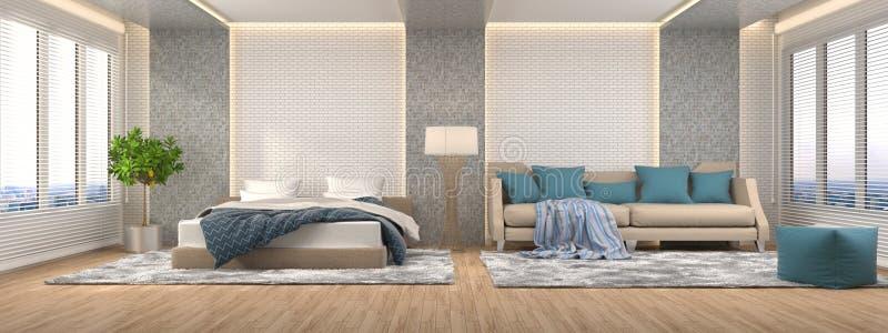 εσωτερικός καναπές τρισδιάστατη απεικόνιση απεικόνιση αποθεμάτων