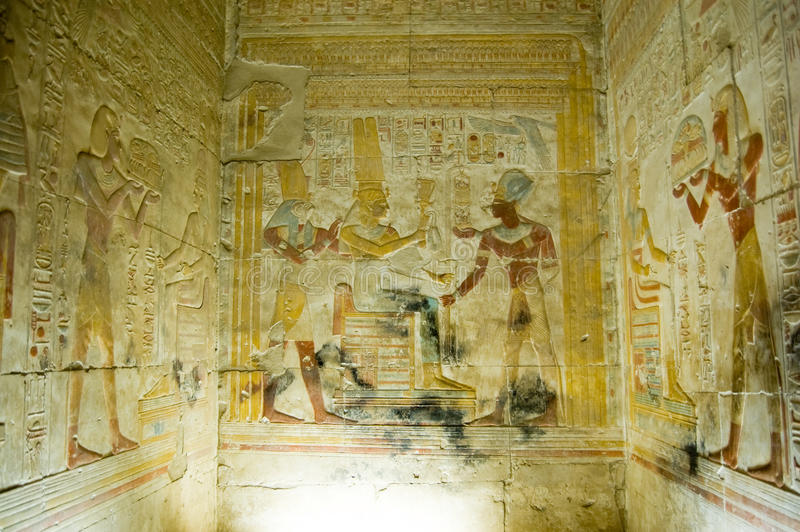 εσωτερικός ναός παρεκκλησιών abydos στοκ εικόνα