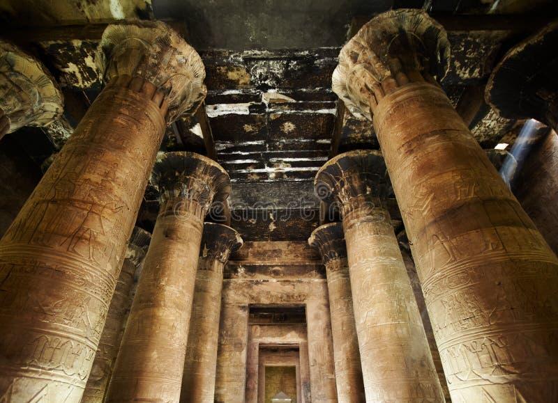 εσωτερικός ναός horus της Αι&gamm στοκ φωτογραφίες
