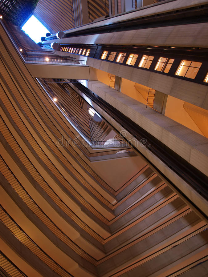 εσωτερικός ουρανοξύστη στοκ φωτογραφία