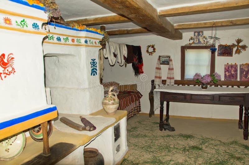 εσωτερικός παλαιός καλυβών στοκ φωτογραφία με δικαίωμα ελεύθερης χρήσης