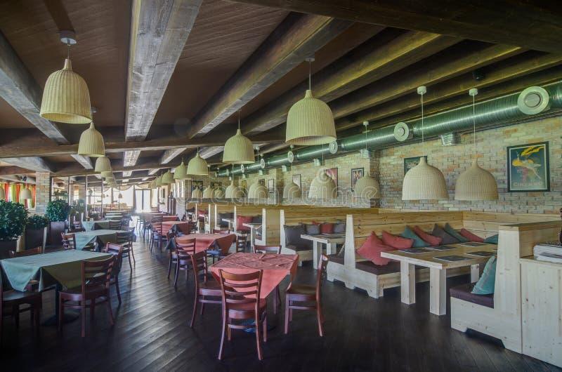 Εσωτερικός πυροβολισμός εστιατορίων στοκ φωτογραφία
