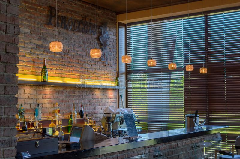 Εσωτερικός πυροβολισμός εστιατορίων στοκ φωτογραφία με δικαίωμα ελεύθερης χρήσης