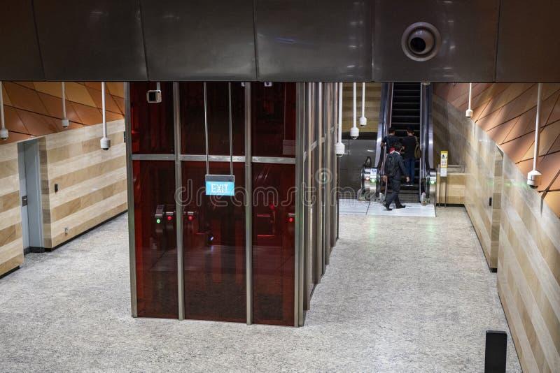 Εσωτερικός πυροβολισμός του MRT Rochor σταθμού στοκ φωτογραφία με δικαίωμα ελεύθερης χρήσης