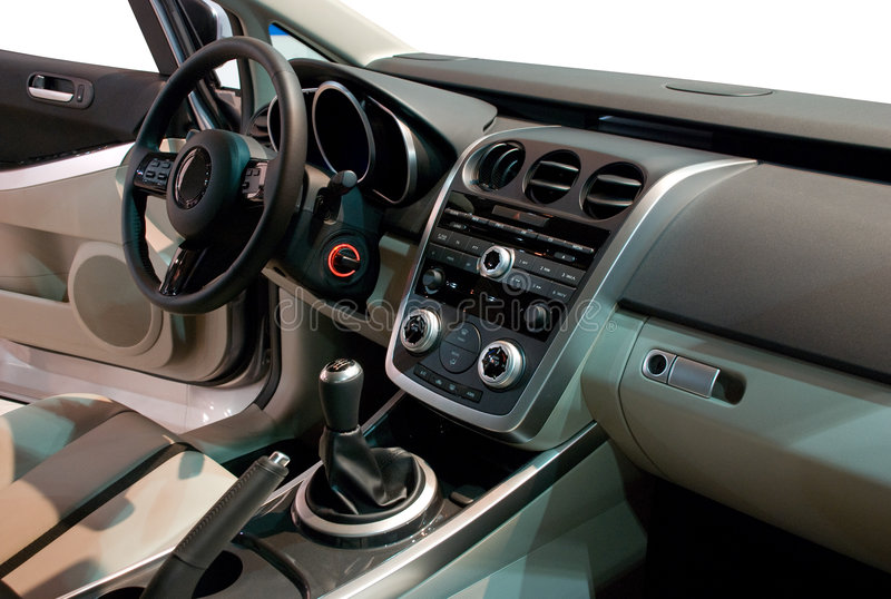 εσωτερικός σύγχρονος αυτοκινήτων στοκ φωτογραφία με δικαίωμα ελεύθερης χρήσης
