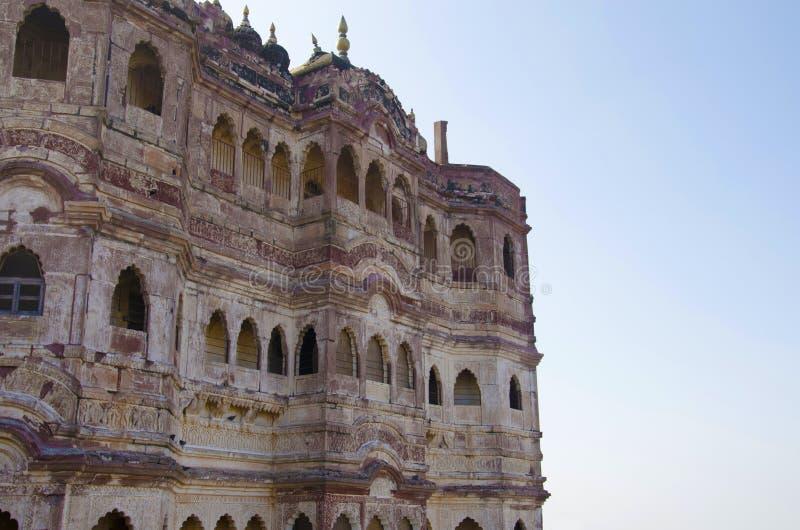 Εσωτερικός τοίχος του οχυρού Mehrangarh ή Mehran, Jodhpur, Rajasthan, Ινδία στοκ φωτογραφίες