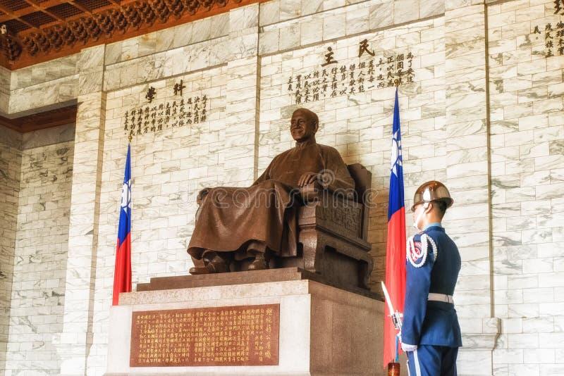 Εσωτερικός υπόγειος θάλαμος της αναμνηστικής αίθουσας Chiang Kai -Kai-shek στοκ εικόνες