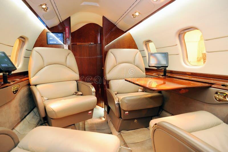 εσωτερικό αεροπλάνο αε στοκ φωτογραφία