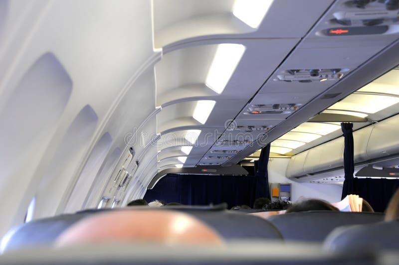 εσωτερικό αεροπλάνων στοκ εικόνες