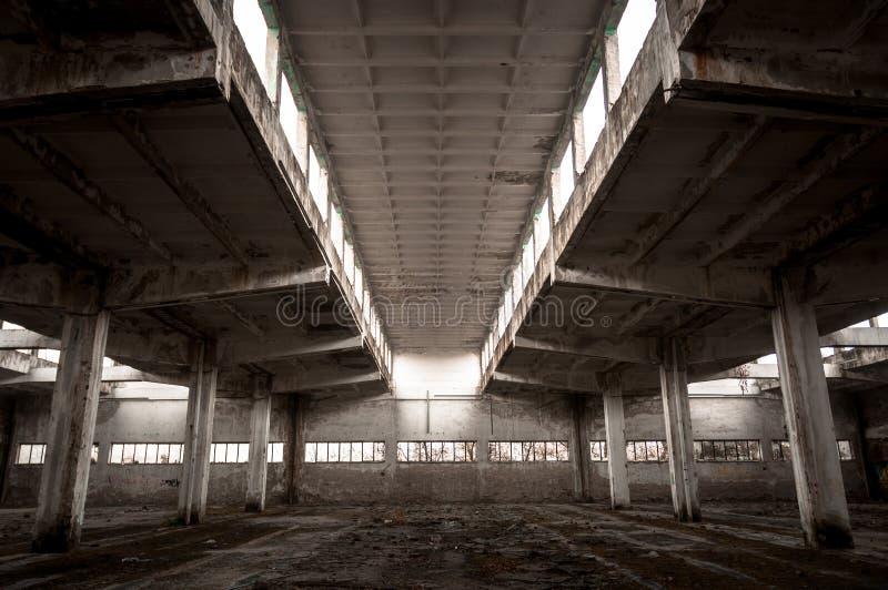 Εσωτερικό βιομηχανικού κτηρίου στοκ εικόνες